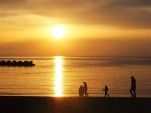 150808  伊豆の海と夕日